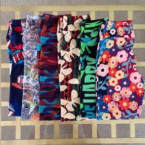 LuLaRoe Girl's Leggings Lot of 7